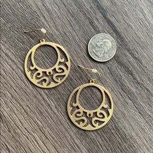 Gold Cutout Hoop Earrings